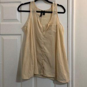 Size L flowy tank blouse